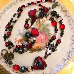 Jewelry - Exquisite Murano Heart Beaded ** Lanyard**!